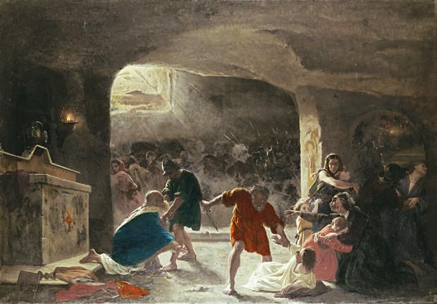 religião catacumbas giuseppe mancinelli cristãos romanos