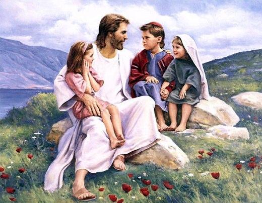 jesus com crianças espiritas